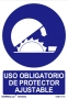 uso obligatorio protector ajustable